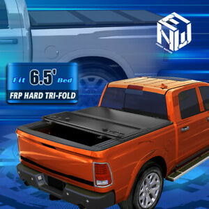For 09 18 Ram Truck 6 5ft Short Bed Clamp On Hard Solid Tri Fold Tonneau Cover