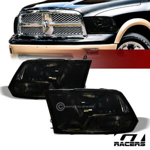 Dual Lamps For 2009 2019 Dodge Ram Factory Style Smoke Clear Headlights Pair Nb