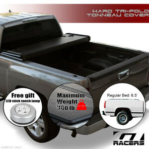 Tri fold Hard Tonneau Cover Jr 1988 Chevy C10 C k Silverado Std ext 6 5 Ft Sb