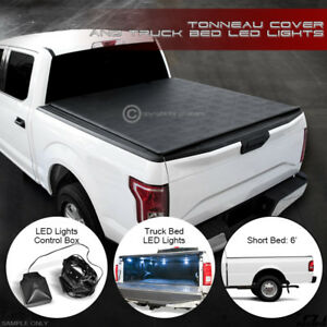Lo Roll Lock Soft Tonneau Cover Led Lights 1983 2011 Ford Ranger 6 72 Short Bed