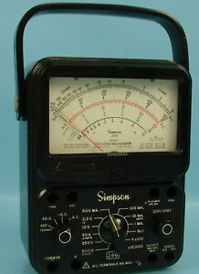 Vintage Simpson Test Meter Model 260 Series 7 Volt ohm millammeter Made In Usa