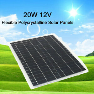80w 12v Mono Solar Panel Off Grid Battery Charger 20wx4 for Boat Motorhome Us