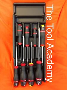 Facom Tools 8 Piece Screwdriver Set Plastic Module Slotted Flat Phillips Set