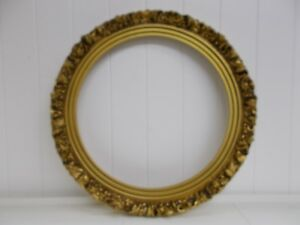 Kw 397 15 Gold Ornate Wooden Frame Vintage 12 5 Picture