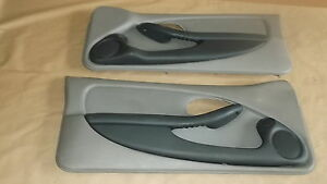 93 95 Firebird Trans Am Door Panels Light Gray Leather Lh Rh Pair 0814 8