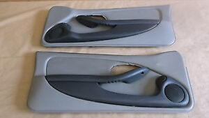 93 95 Firebird Trans Am Door Panels Light Gray Leather Lh Rh Pair 0814 12