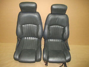 93 95 Firebird Formula Graphite Leather Front Seat Seats 0526 8