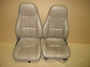 94 95 Camaro Z28 Convertible Tan Leather Seat Seats Set 0526 12