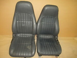 00 02 Camaro Rs Ss Z28 Convertible Ebony Leather Seat Seats Set 0827 21