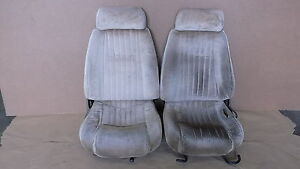 91 92 Firebird Trans Am Tan Cloth Seat Seats Front Core 0515 4