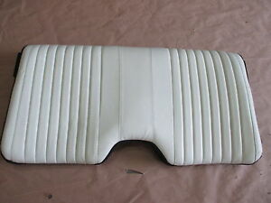 93 96 Firebird Trans Am White Leather Rear Upper Seat Back 0414 41