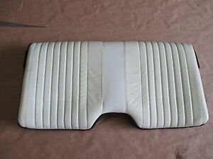 93 96 Firebird Trans Am White Leather Rear Upper Seat Back 0414 44