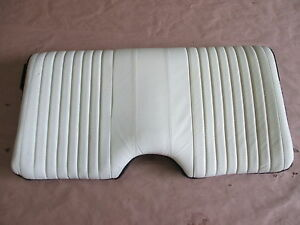 93 96 Firebird Trans Am White Leather Rear Upper Seat Back 0414 42
