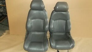 97 Trans Am Med Gray Leather Seat Seats Set 1021 5