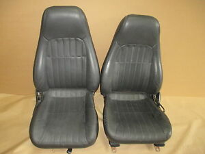 00 02 Camaro Rs Ss Z28 Ebony Leather Seat Seats Set 0519 9