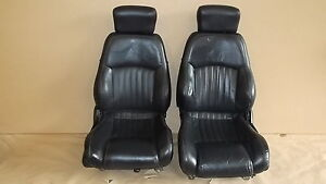 00 02 Trans Am Ebony Leather Seat Seats Set 0604 1