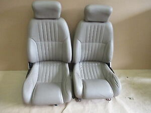 96 02 Firebird Formula Neutral Tan Leather Seat Seats Set 0512 7