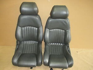 93 95 Trans Am Graphite Leather Seat Seats Set 0512 4