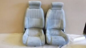 93 96 Firebird Trans Am Light Gray Cloth Seat Seats Set 0924 5