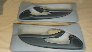 93 96 Firebird Trans Am Door Panels Light Gray Cloth Lh Rh Pair 0827 15