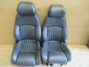 96 Trans Am Graphite Leather Seat Seats Set 0330 3