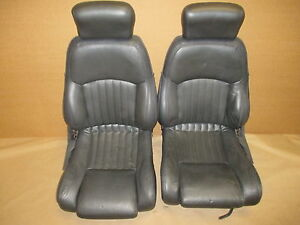 93 95 Firebird Formula Graphite Leather Seat Seats Set 0331 4