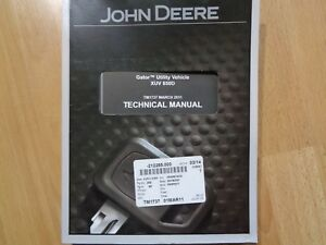John Deere Gator Xuv 850d Utility Vehicle Factory Technical Repair Manual Tm1737