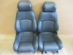 96 Trans Am Graphite Leather Seat Seats Set 0706 30