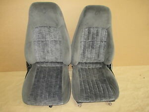 00 02 Camaro Rs Ss Z28 Ebony Cloth Seat Seats Set 0311 9