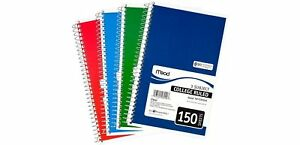 Mead 3 subject Wirebound College Ruled Notebook 9 5 X 5 5 Pack Of 6 No Tax