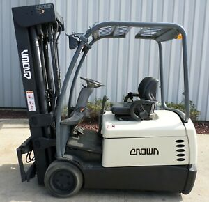 Crown Model Sc4540 40 2007 4000 Lbs Capacity Great 3 Wheel Electric Forklift