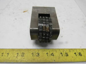Cadillac Stamp 30p Vintage 0000 9999 4 Character Steel Press Stamp