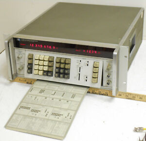 Hp Agilent 3330b Automatic Rf Frequency Synthesizer 0 13mhz tested Good Working