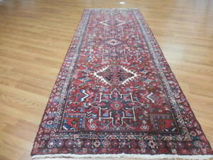 C1930 Vgdy Antique Persan Karache Serapi Heriz Viss 4x11 Estate Sale Rug Runner