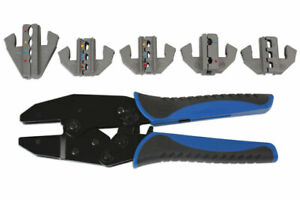 Professional Ratchet Electrical Terminal Crimping Kit 5 Interchangeable Heads