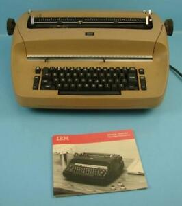 Vtg Brown Ibm Selectric I Electric Typewriter Letter Gothic Font Ball Office P r