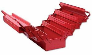 Red Steel Metal Tool Box Cantilever With 7 Tray Box 17 430mm