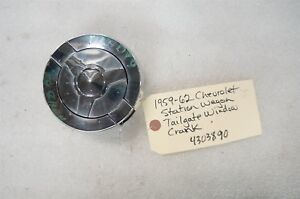 1959 1960 1961 1962 Chevy Station Wagon Tailgate Window Crank Nos With Lock