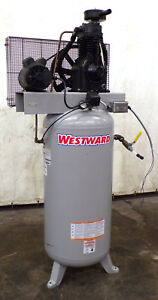 Westward Vertical Air Compressor 3vb60 60 Gallon 5hp Weg 10021789 Fp050000av
