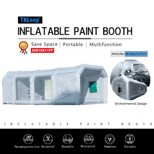 33x16x11ft Inflatable Paint Spray Booth Tent Portable Mobile Car Workstation New