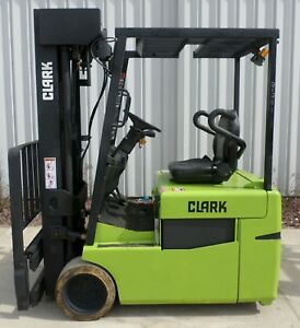 Clark Model Tmg20 2000 4000 Lbs Capacity Great 3 Wheel Electric Forklift
