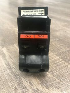 Priced To Sell Fpe Federal Pacific Stab lok 100 Amp 2 Pole Circuit Breaker