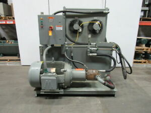 Clark 35340 125hp 200 Gal Hydraulic Power Unit 67gpm 2500psi 230 460v 3ph