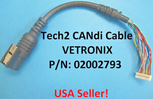 Gm Tech 2 Vetronix Scanner Candi Interface Replacement Female Cable Vtx02002793