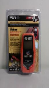 Klein Tools Et260 Digital Ac dc Voltage Continuity Tester W worklight