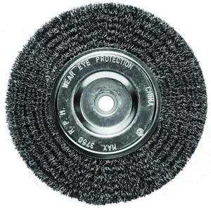Century Drill And Tool 76863 Fine Bench Grinder Wire Wheel Brush 6 inch