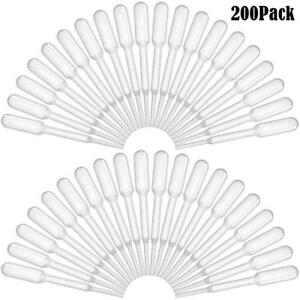 Bonayuanda 200pcs 0 2ml Disposable Plastic Graduated Transfer Pipettes Dropper