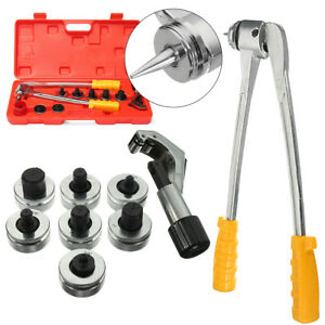 7 Lever Manual Copper Tube Pipe Expander Swaging Hvac Kit Expanding Tool Ct 100