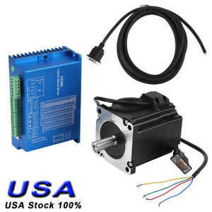 Hss86 2 phase Servo Driver Nema 34 Closed loop 4n m Stepper Motor Kit Us Ship