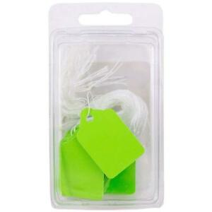 Jam Paper Gift Tags With String Mini 1 3 4 X 1 Lime Green 50 pack